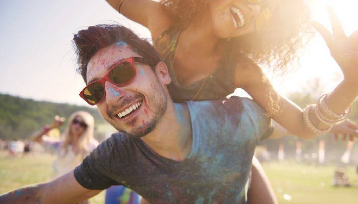 picture of couple at festival